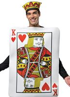 Adult King of Hearts Playing Card Costume