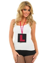 L Plate Necklace