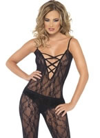 Lace Up Front Body Stocking