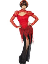 Adult Lace Devil Vampiress Costume [24374]