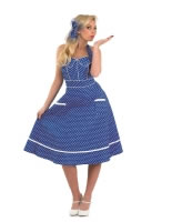 Adult Ladies 50s Blue Dress Costume