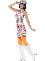 Ladies 60's Groovy Chick Costume