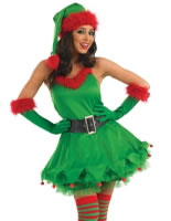 Adult Ladies Christmas Elf Costume [FS3163]