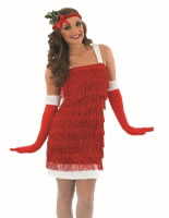 Ladies Christmas Flapper Costume