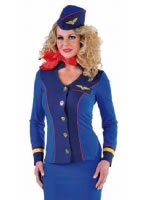Ladies Deluxe Flight Attendant Costume [214136]