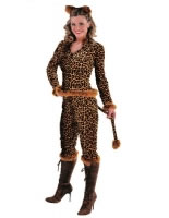 Adult Ladies Deluxe Leopard Kitty Costume