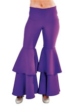 Ladies Deluxe Purple Hippie Trousers [213125-10]