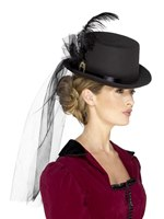 Ladies Deluxe Victorian Top Hat [48413]
