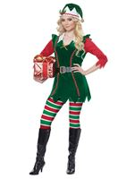 Ladies Festive Elf Costume [01493]