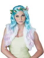 Ladies Floral Fantasy Wig