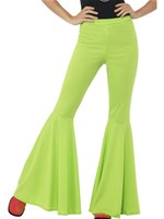 Ladies Green Flared Trousers