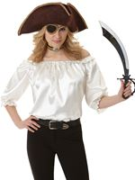 Ladies Ivory Pirate Blouse