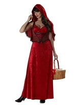 Adult Ladies Miss Red Riding Hood Costume