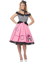 Adult Ladies Nifty 50s Poodle Dress Costume