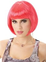 Ladies Pink Bob Wig
