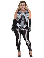 Ladies Plus Size Black and Bones Leggings