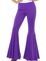Ladies Purple Flared Trousers