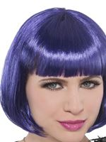 Ladies Purple Glamour Bob Wig [842247-55]