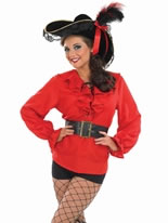 Ladies Red Pirate Shirt