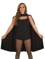 Adult Ladies Black Super Hero Cape