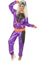 Ladies Retro Shell Suit Costume