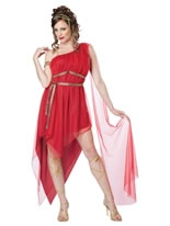 Adult Ladies Ruby Goddess Costume