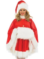 Adult Ladies Santa Cape Costume