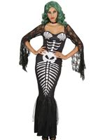 Ladies Skeleton Mermaid Costume