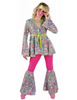 Adult Ladies Deluxe 60s Happy Hippie Costume [214122]