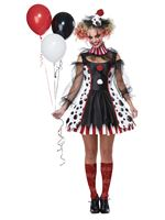 Ladies Twisted Clown Costume