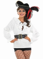 Ladies White Pirate Shirt