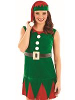 Ladies Miss Elf Costume