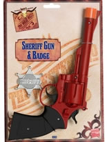 Large Sheriffs Gun And Badge Plastic