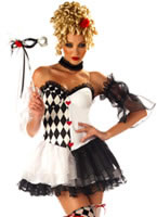 Adult Le Belle Harlequin Costume