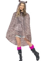 Leopard Party Poncho Festival Costume
