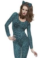 Leopard Print Blue Bodysuit