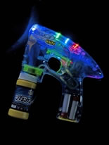 Light Up & Glow Bubble Gun [20216]
