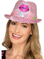 Light Up Sequin Hen Party Trilby Hat [48336]