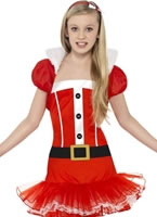 Child Little Miss Santa Tutu Costume [25440]