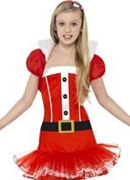 Child Little Miss Santa Tutu Costume [25440]