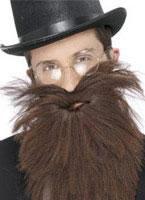 Adult Brown Long Beard And Tash [22833]