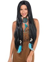 Long Native American Wig
