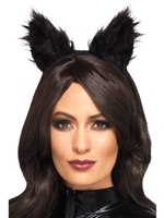 Long Pile Fur Cat Ears