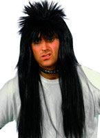 Long Spiky Punky Wig Black