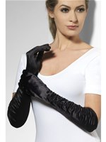 Long Temptress Gloves Black