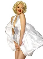 Marilyn Monroe Costume Satin Dress