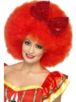 Mega Afro Clown Wig with Bow [43270]