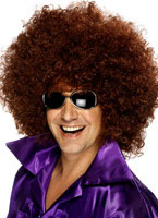 Mega Huge Afro Wig Brown