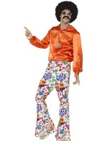 Mens 60s Groovy Flared Trousers