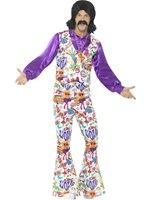 Mens 60's Groovy Hippie Costume